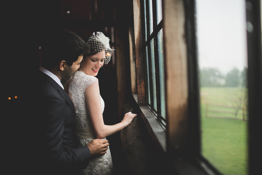 South Pond Farm rainy day wedding