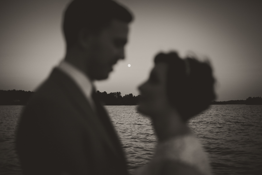 full moon wedding photography