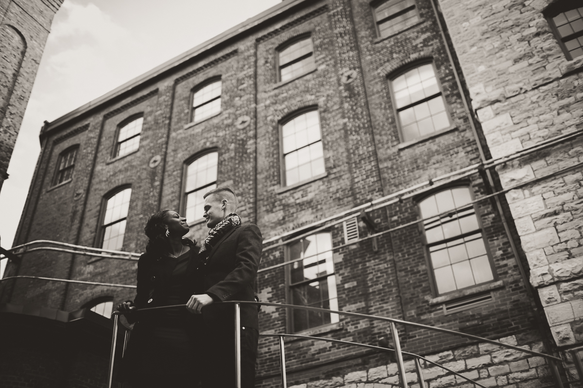 Distillery District And Cherry Beach Engagement Session