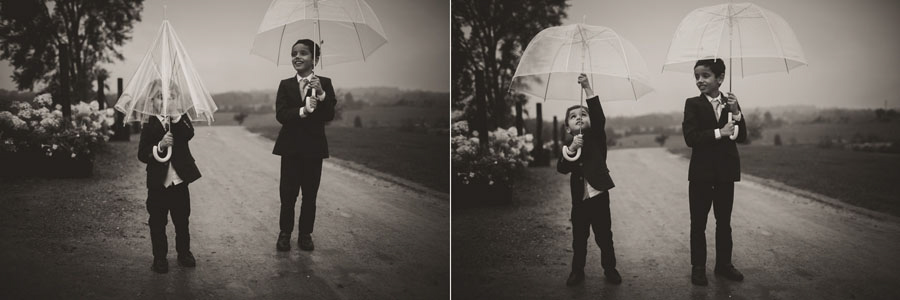 rainy wedding kids