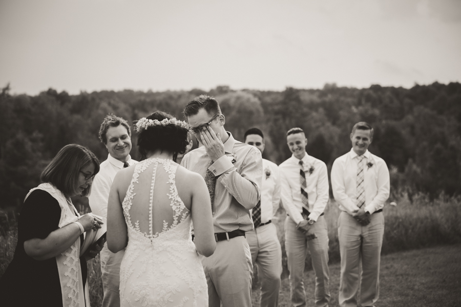 emotional groom photographer