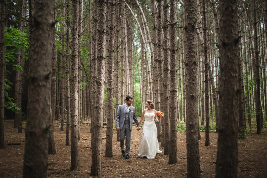 in the woods wedding photographer