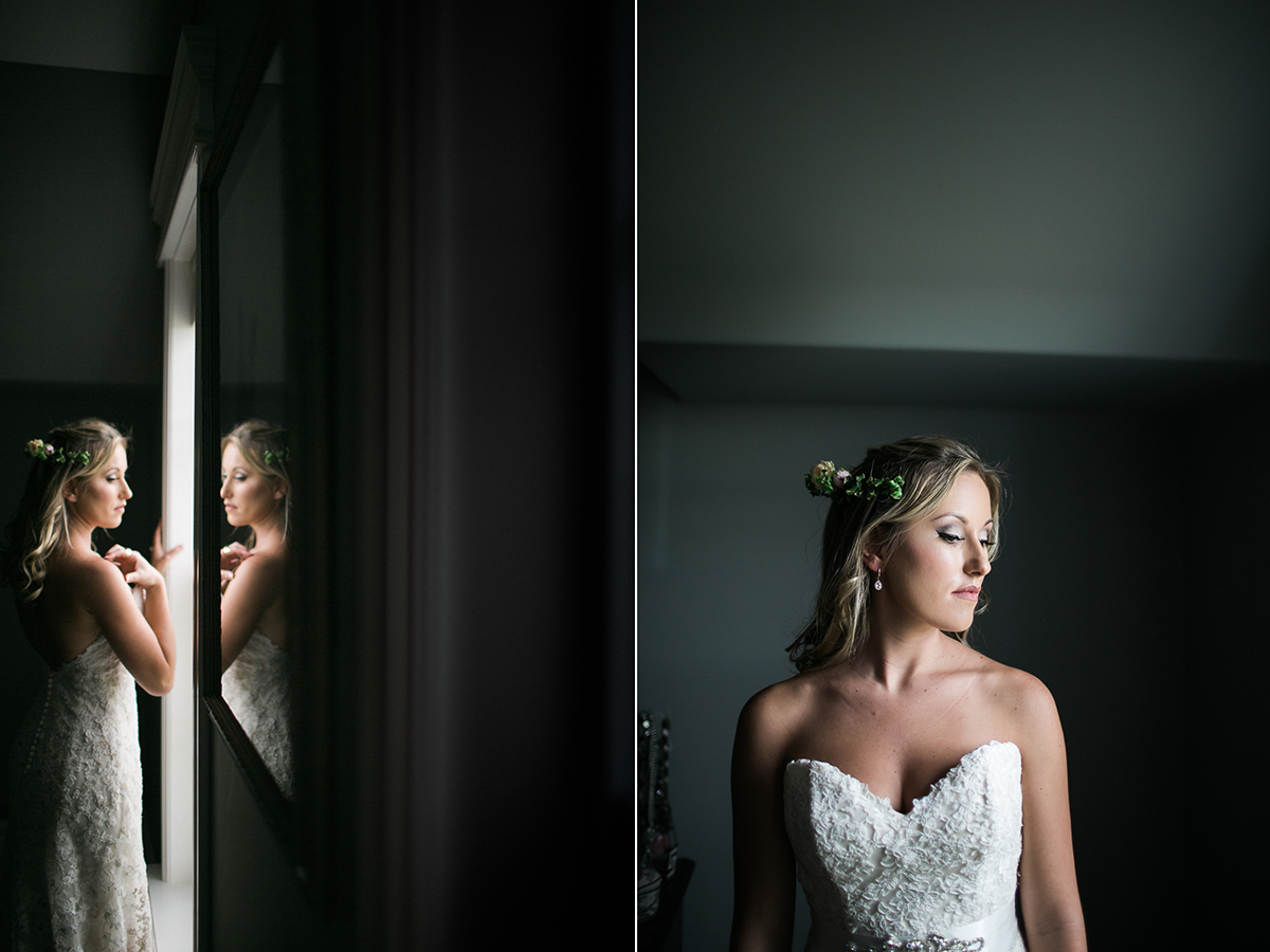 bride with window light