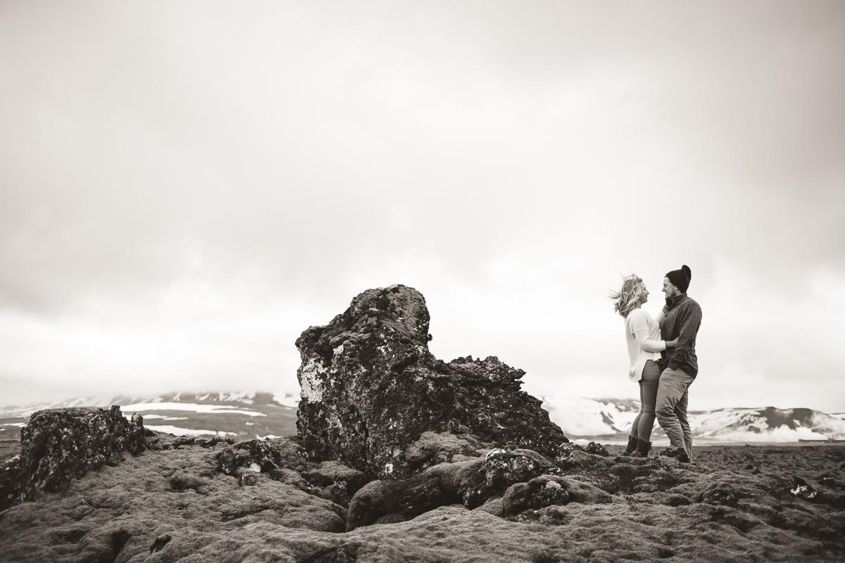 moss covered lava rock portraits