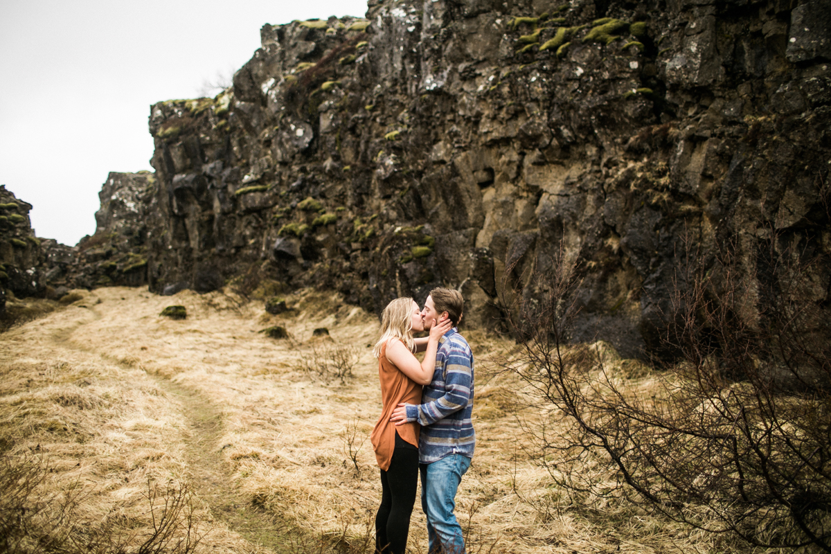 thingvellir park iceland engagement session