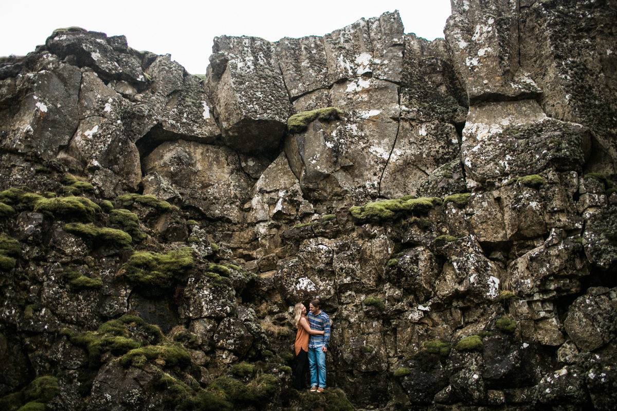 thingvellir park iceland engagement photography