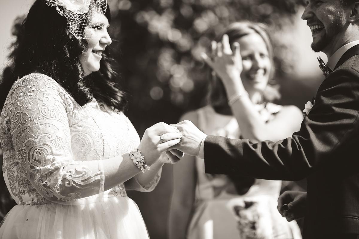wedding ceremony south pond farms bethany