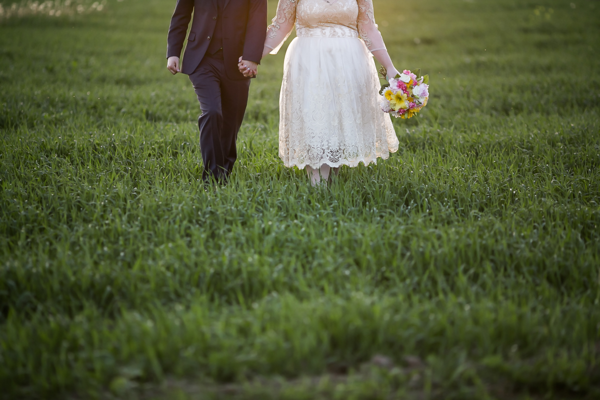 bride and groom south pond farms