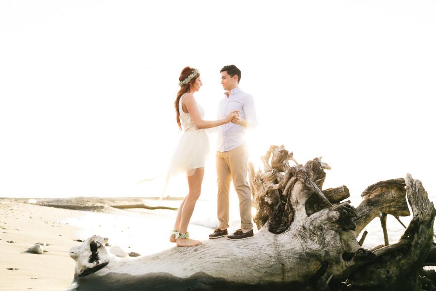 couple on beach in st.lucia