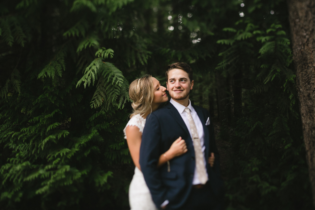 sunshine coast elopement-bride and groom hugging