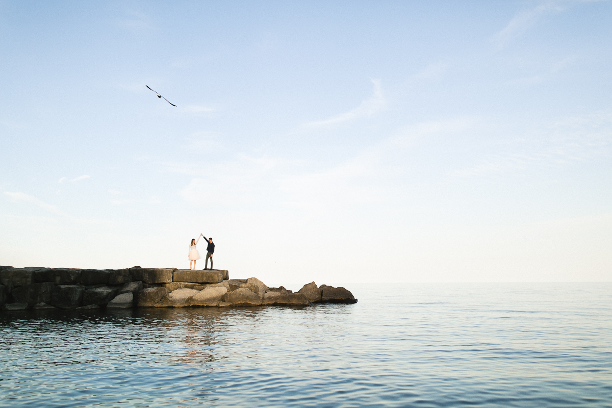 lake ontario engagement photographer