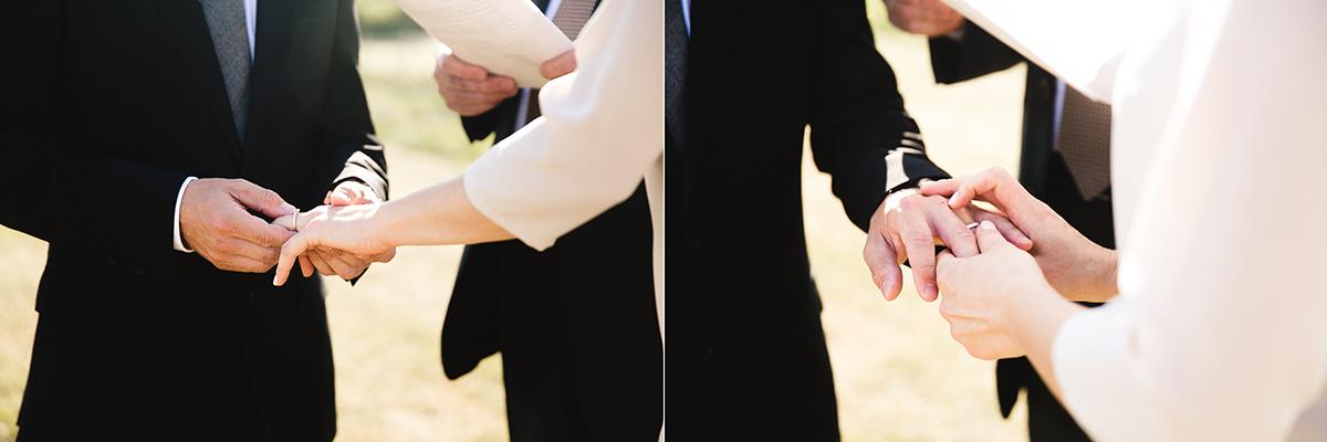 wedding ceremony at hinterland winery