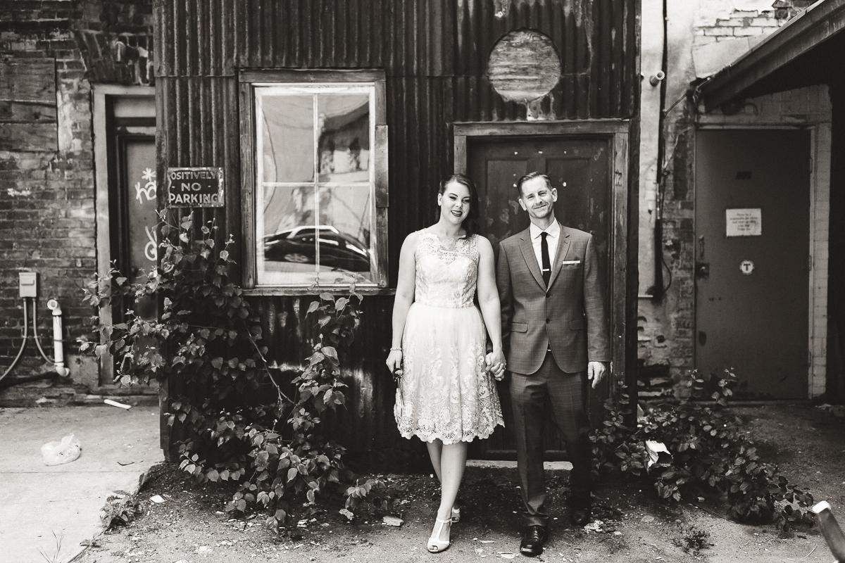 downtown peterborough wedding portraits