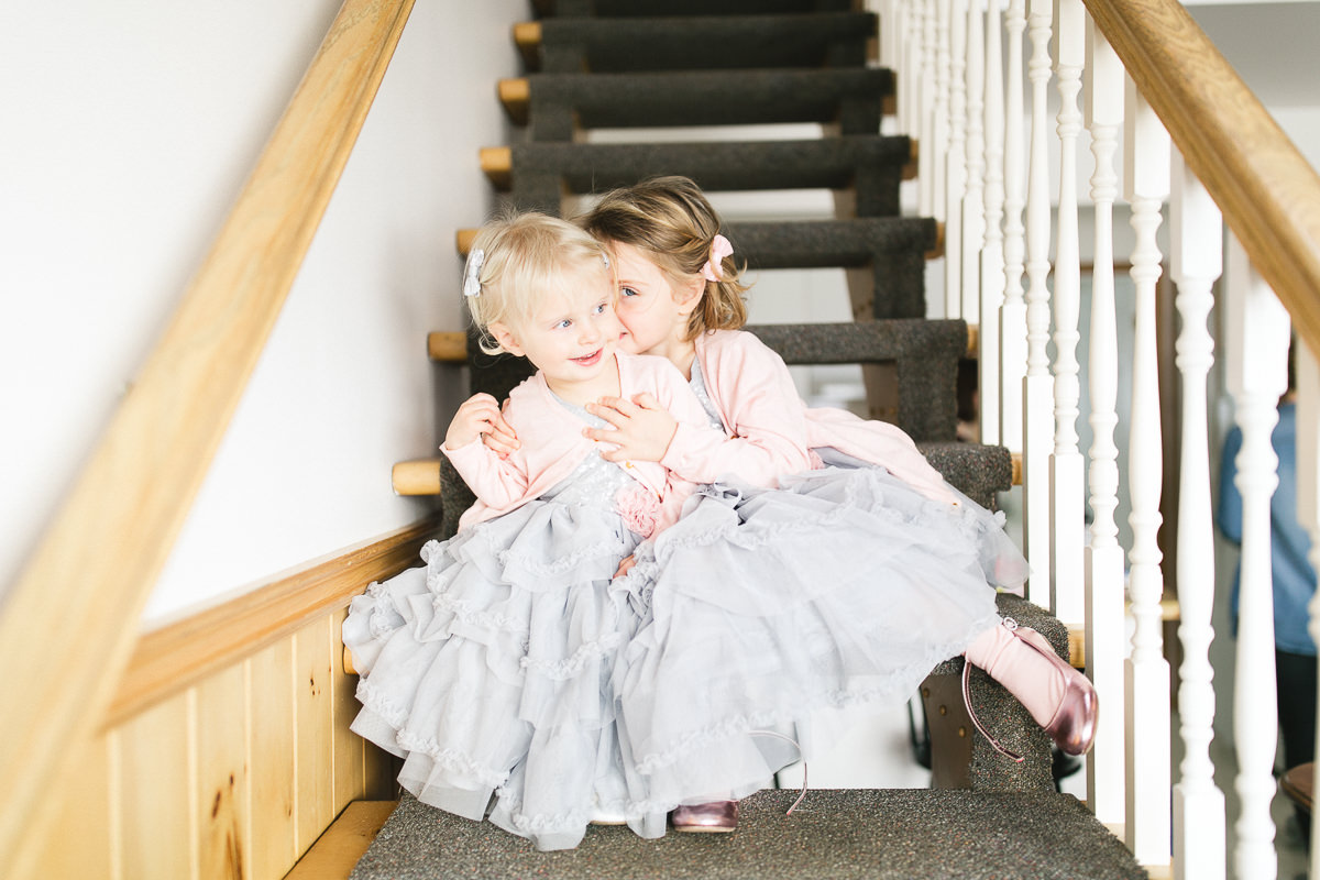 little girls winter wedding