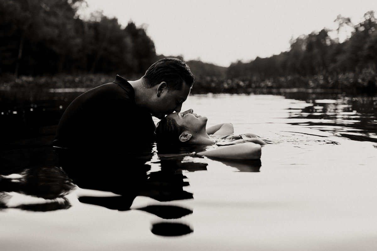 swimming engagement photographer