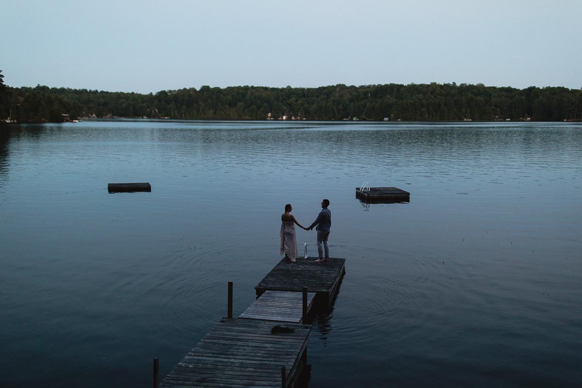 sunset dock couples photos