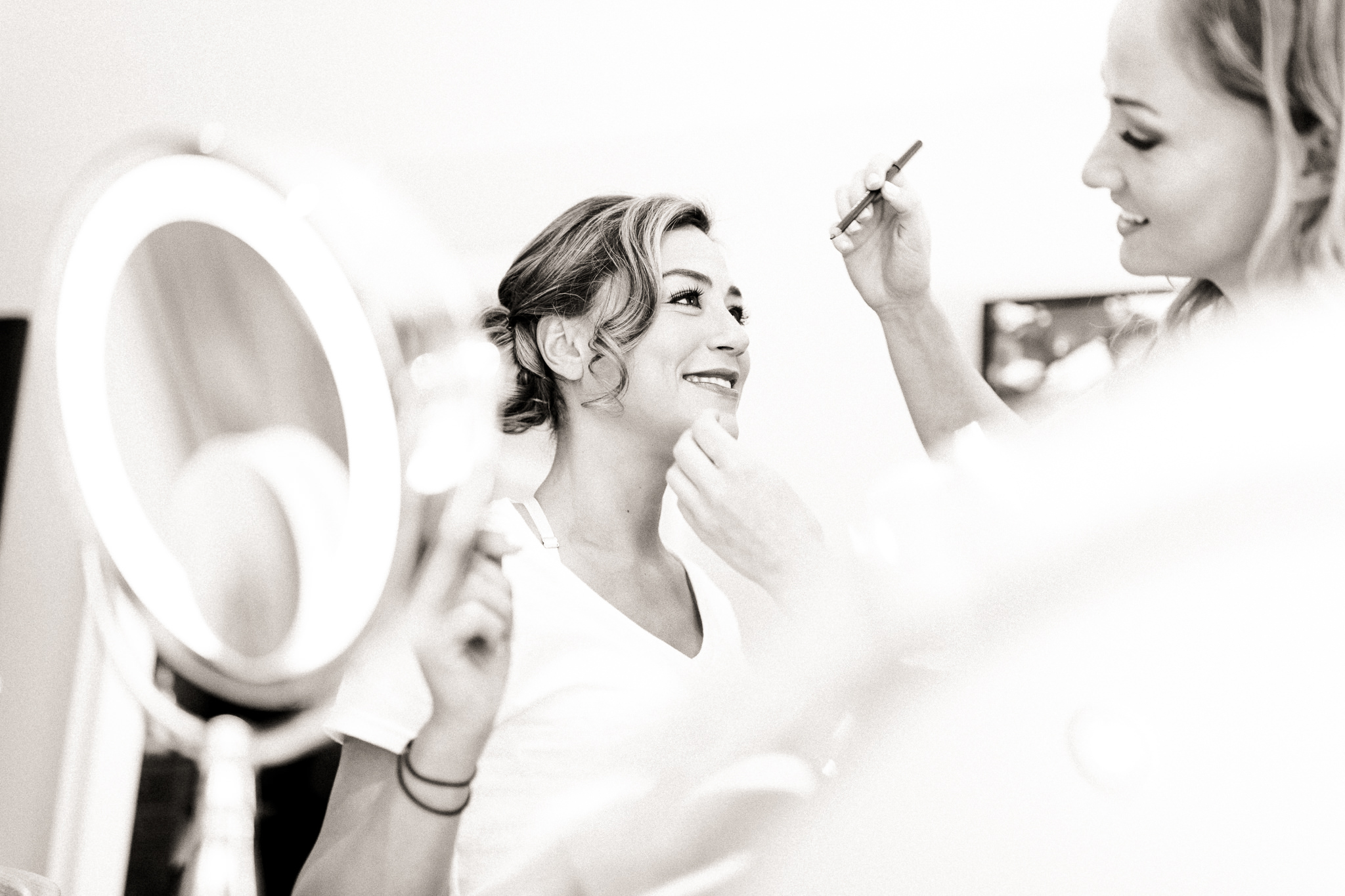 bride getting ready peterborough