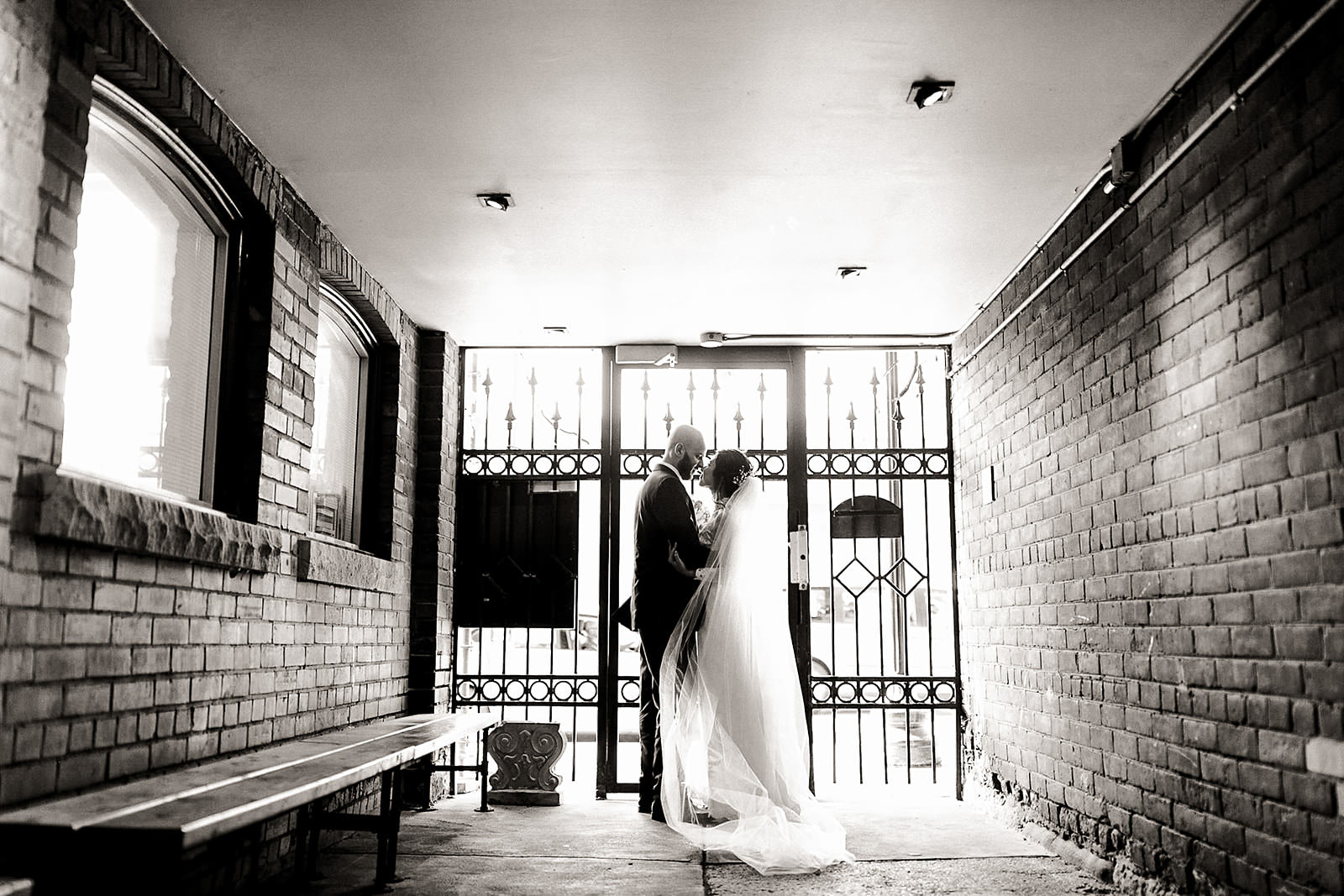 Bridal portraits at Caffino