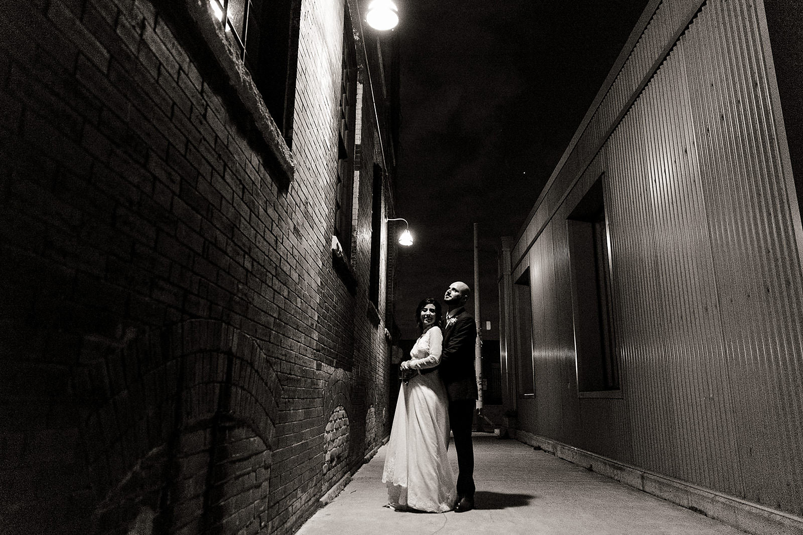 Night time wedding photo Toronto
