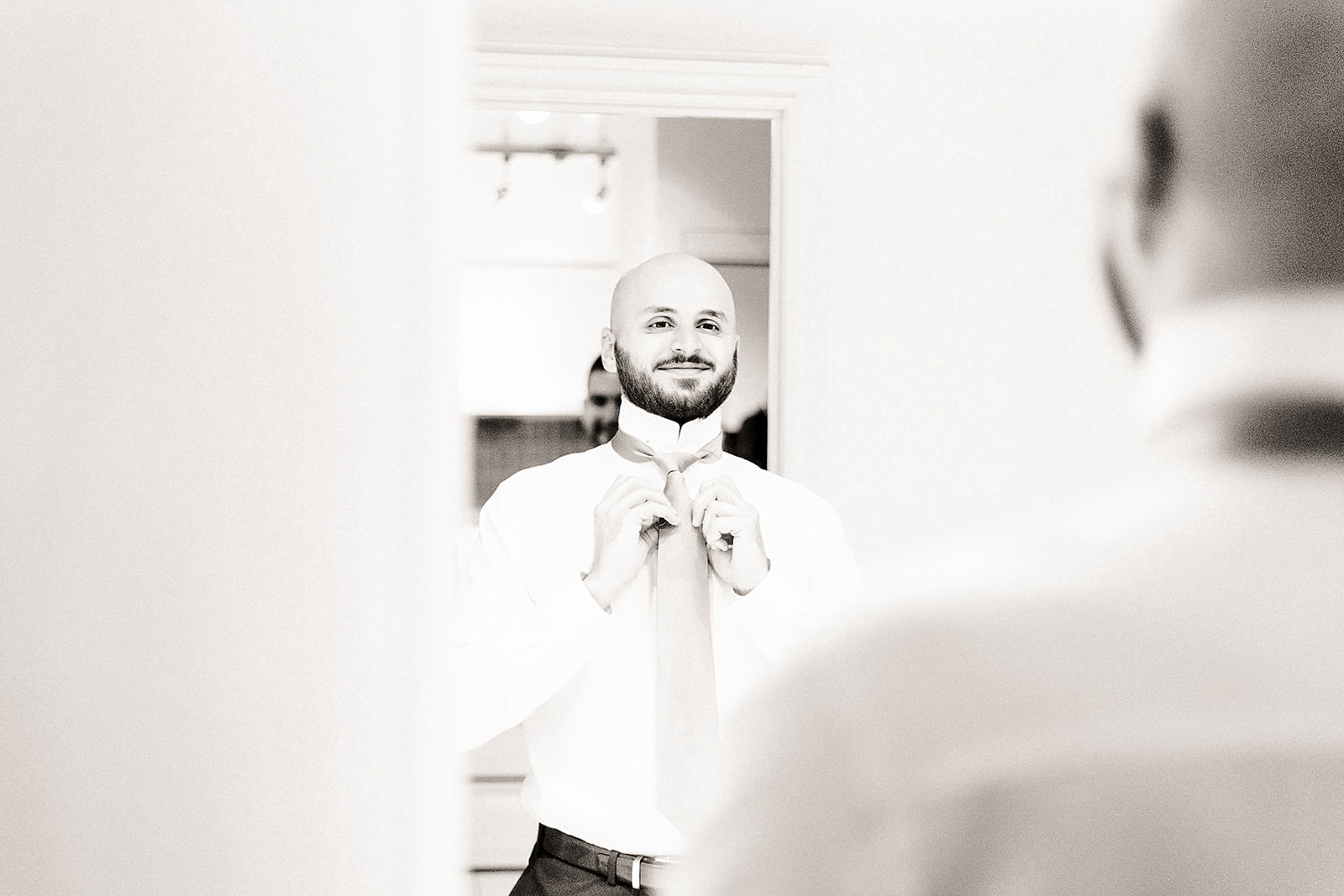Toronto Wedding Groom getting ready
