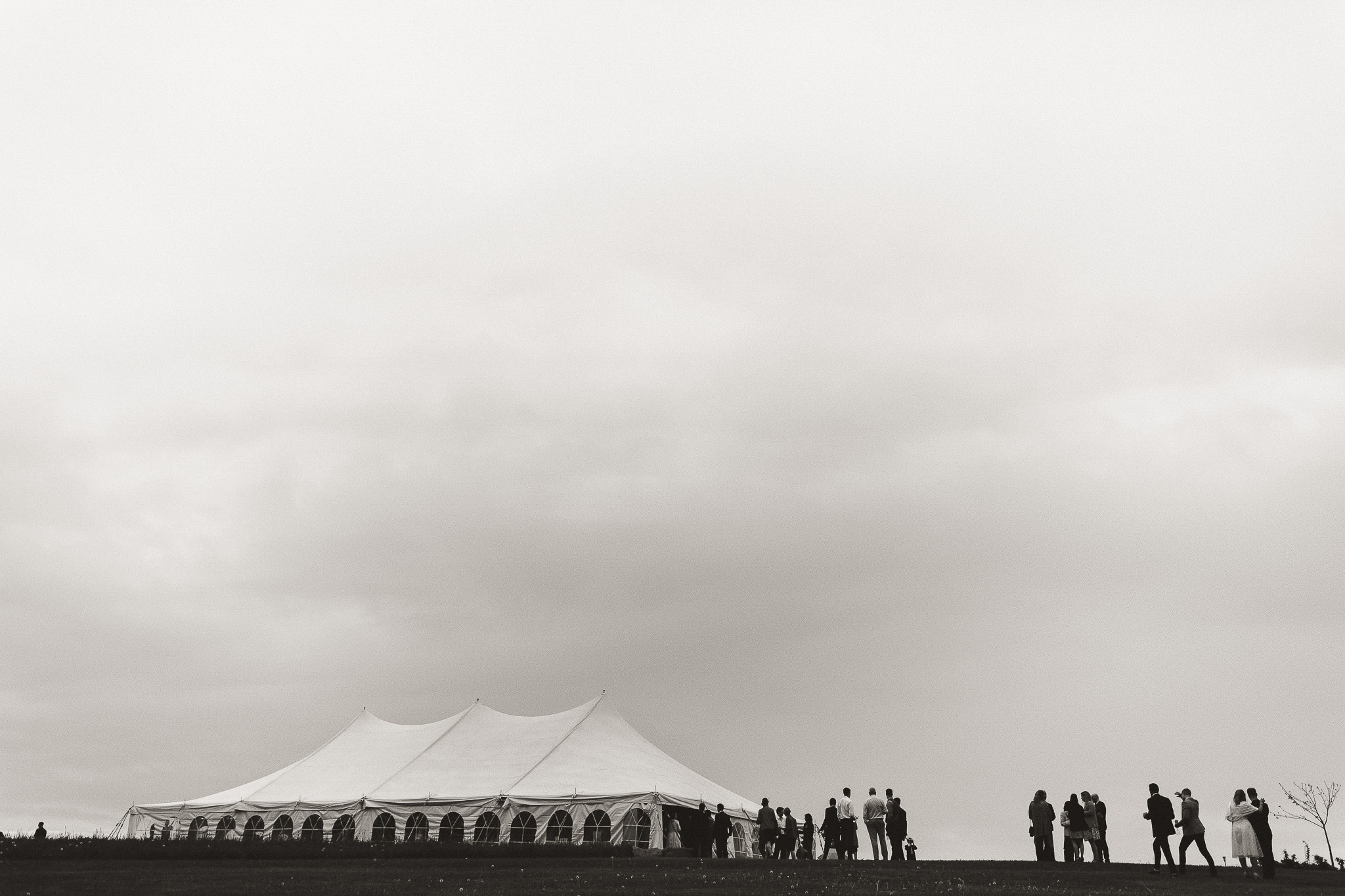 kawartha lakes farm wedding tent reception