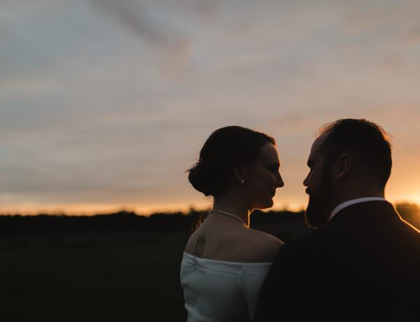 sunset wedding portraits peterborough