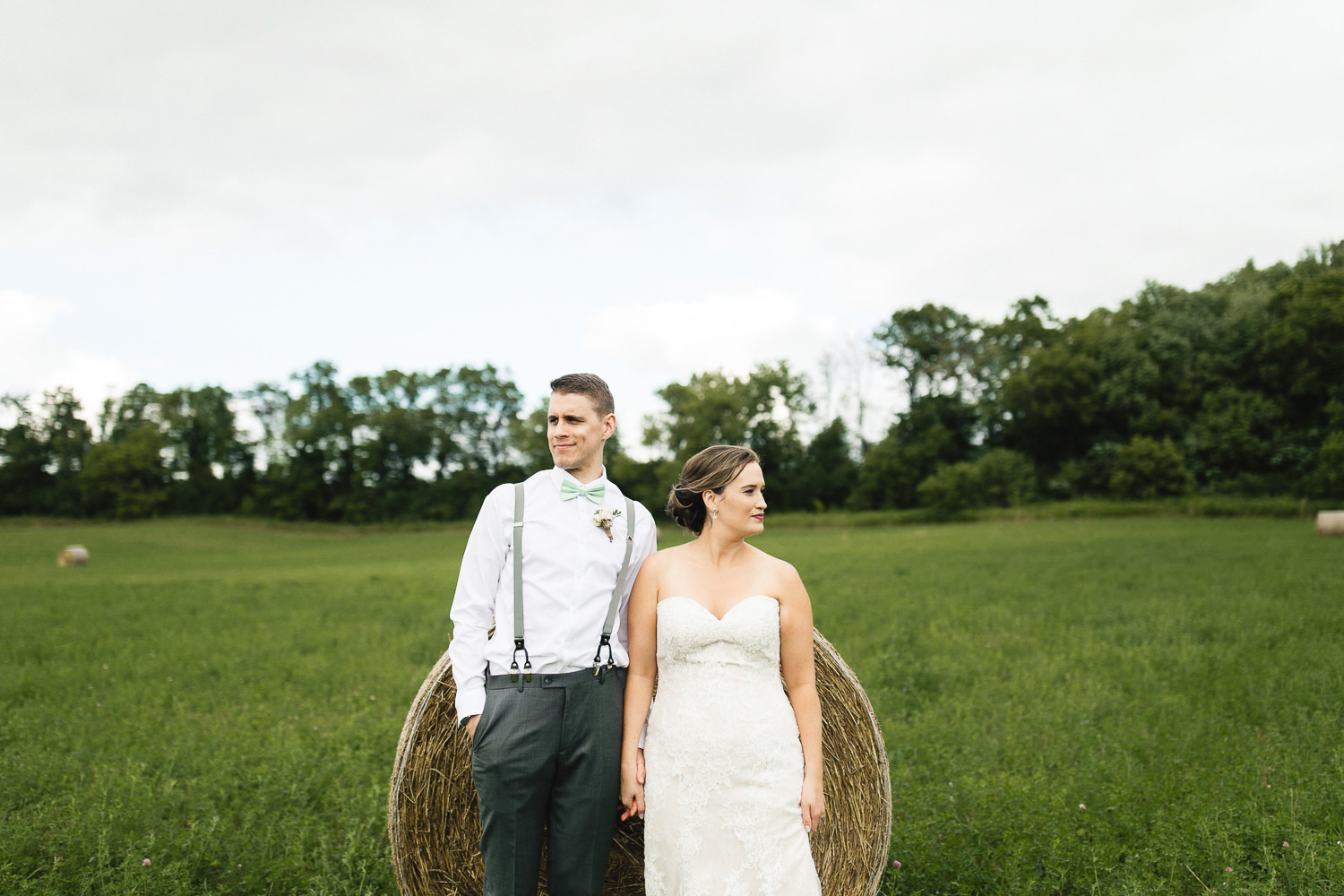 bride and groom portraits century barns