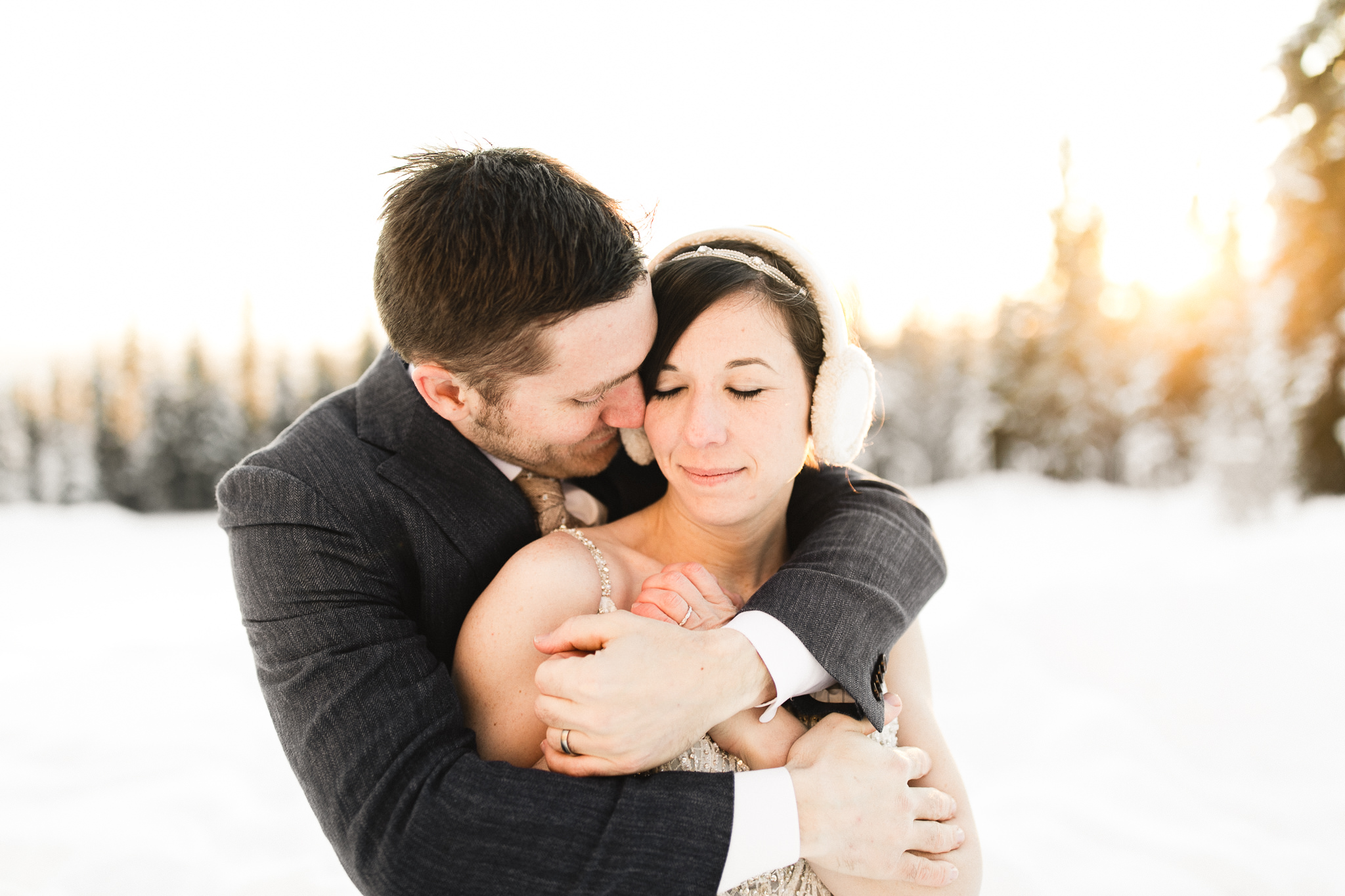 sunset wedding photos fairbanks alaska