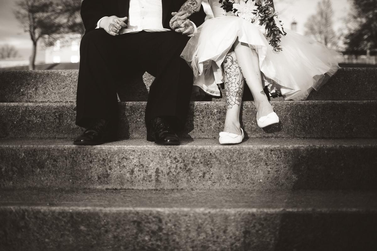 peterborough ontario tattooed wedding photographer