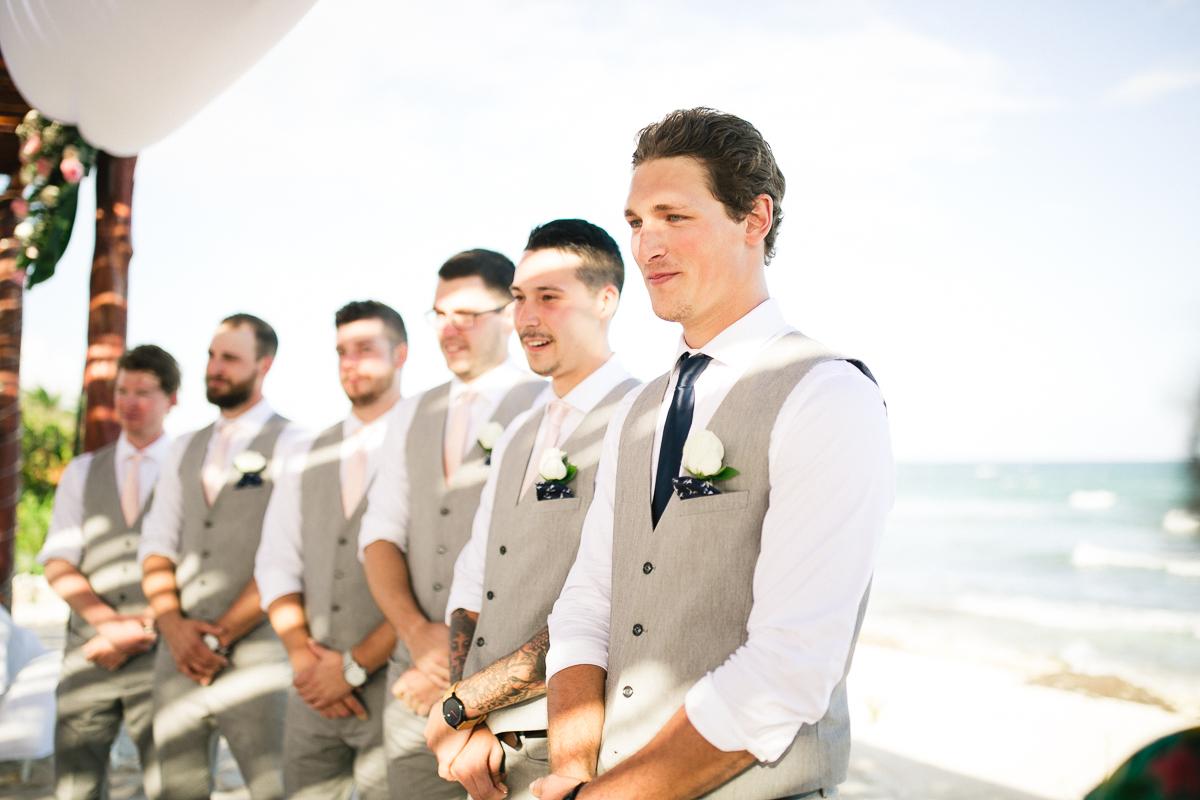 beach ceremony mexico wedding photography
