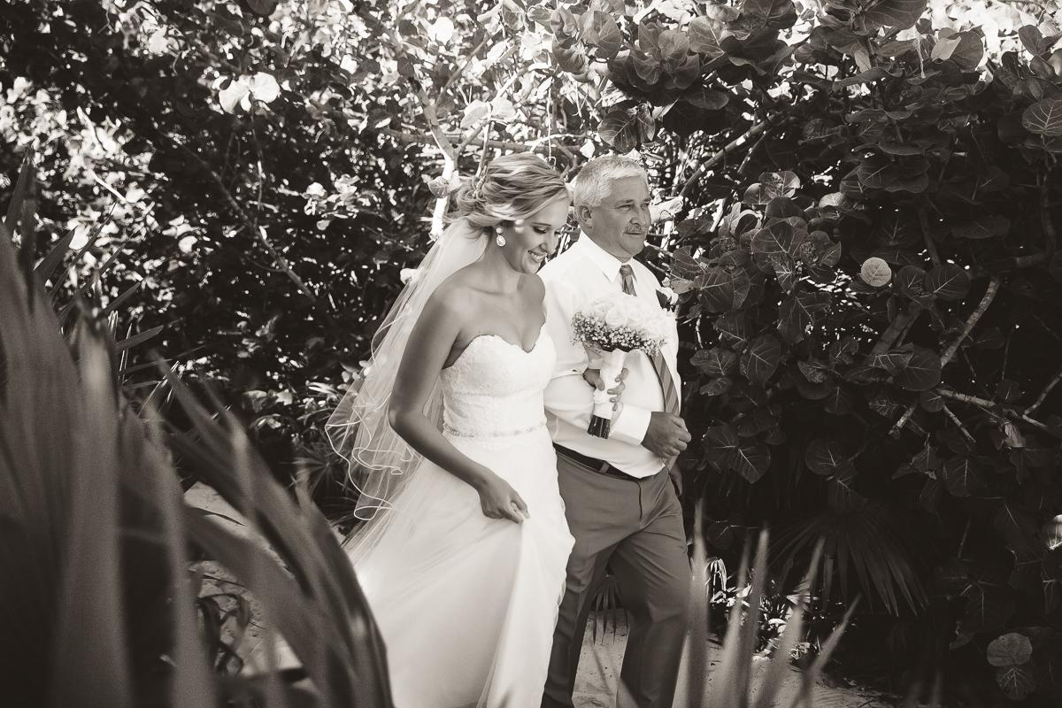 beach ceremony maya riviera wedding photography