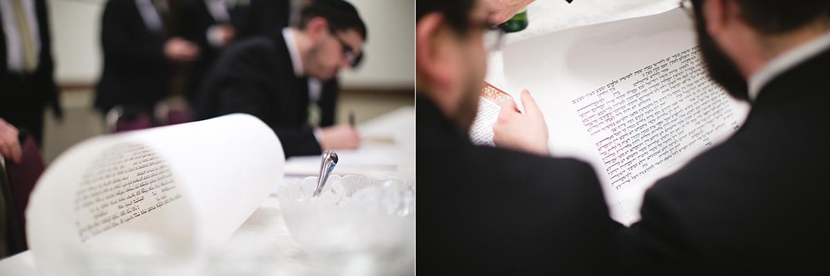 Ketubah ceremony toronto jewish wedding