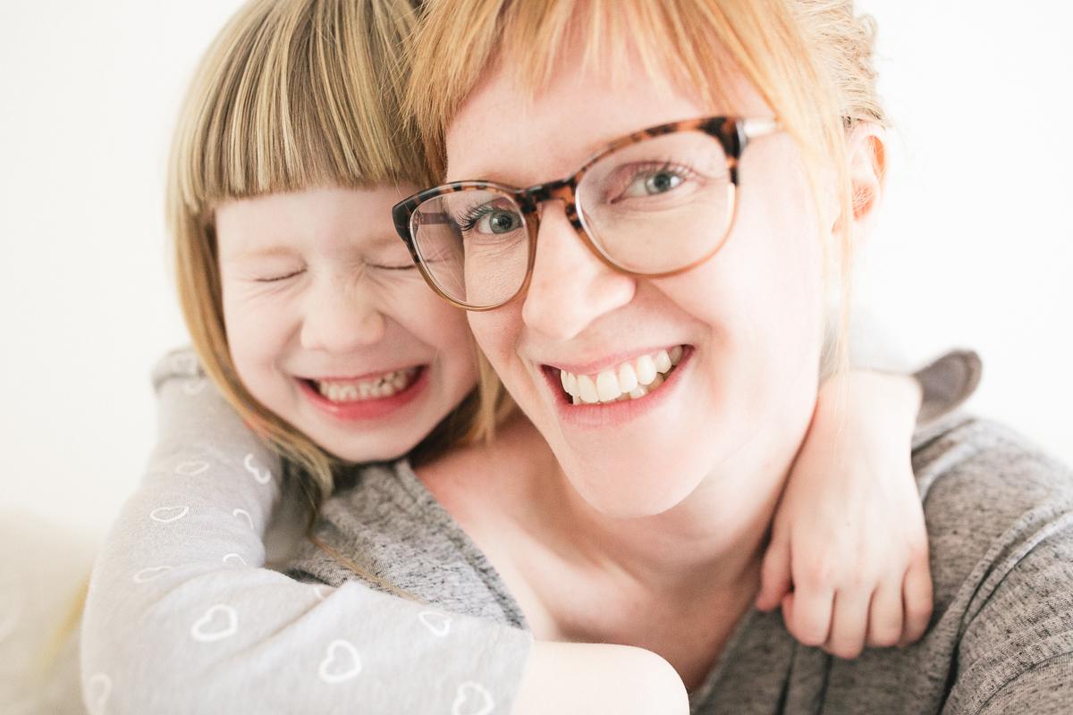 mother daughter self portrait
