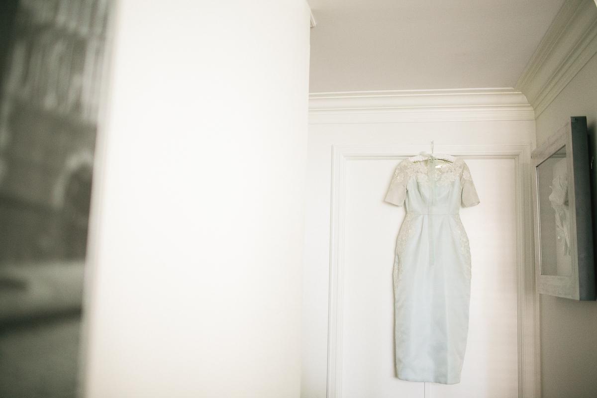 blue vintage wedding dress