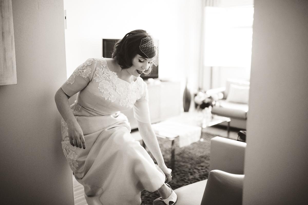 getting ready toronto hotel wedding