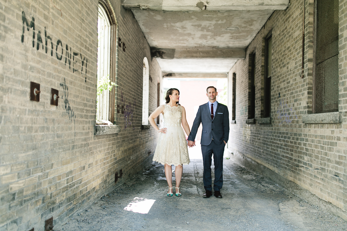 downtown peterborough wedding photography