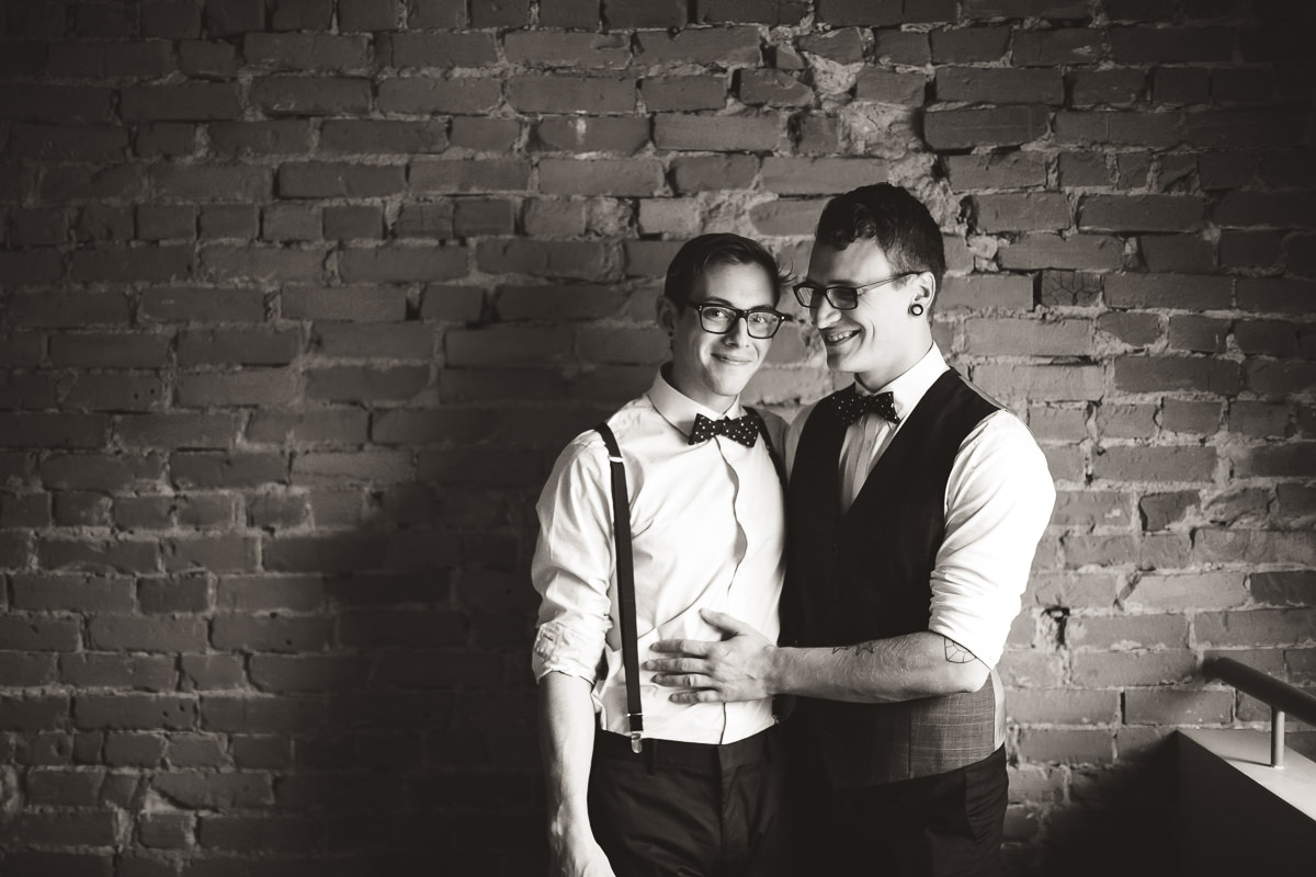 two grooms portraits