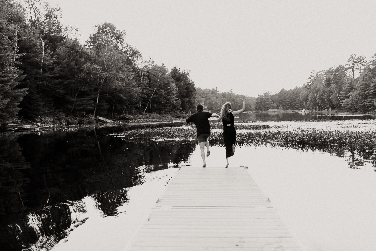 swimming engagement session