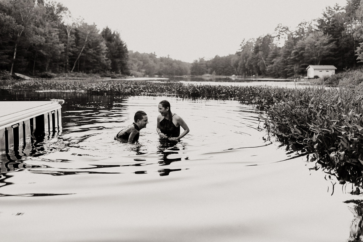 swimming engagement photographer