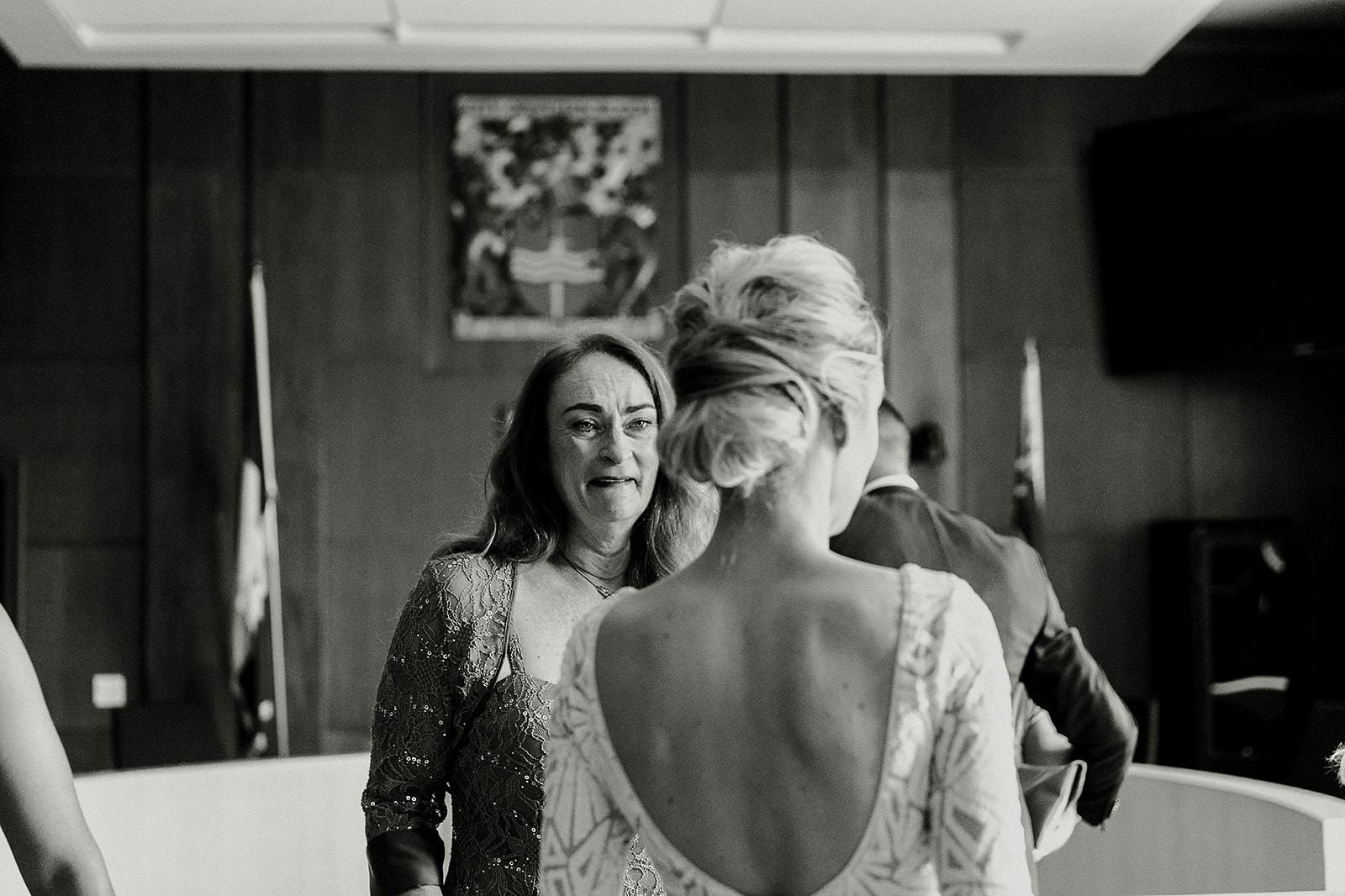 intimate city hall wedding