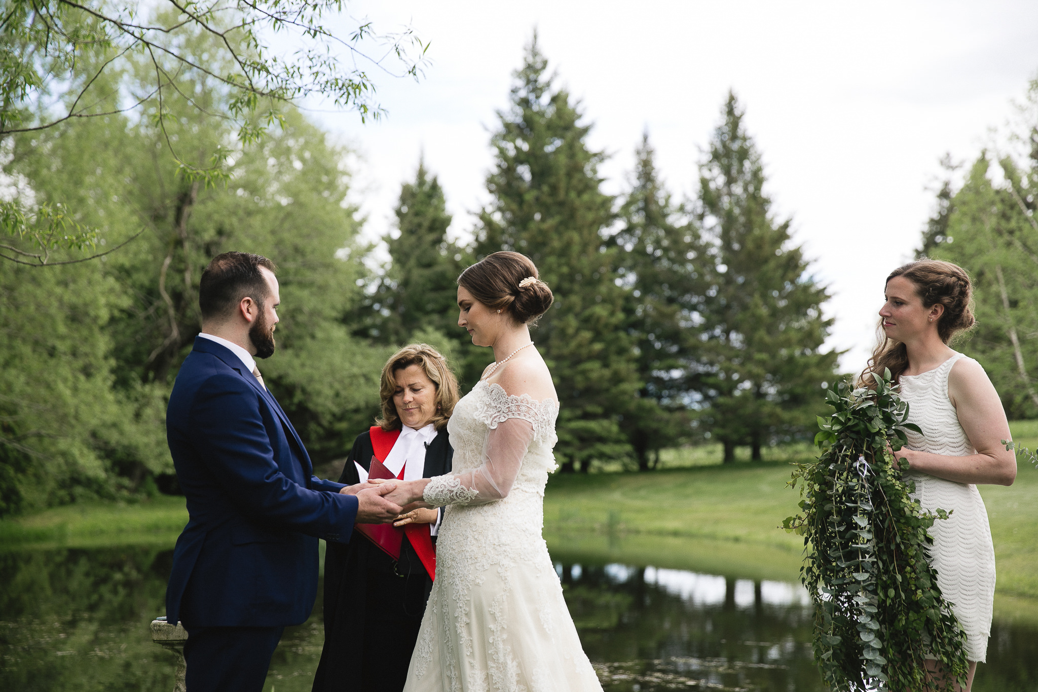 kawartha lakes farm wedding ceremony