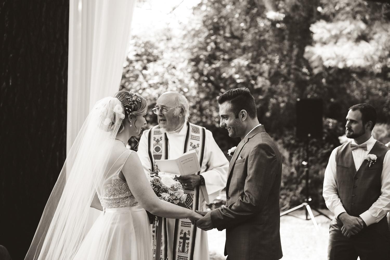Gracewood estates wedding ceremony