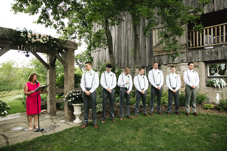 century barn wedding ceremony