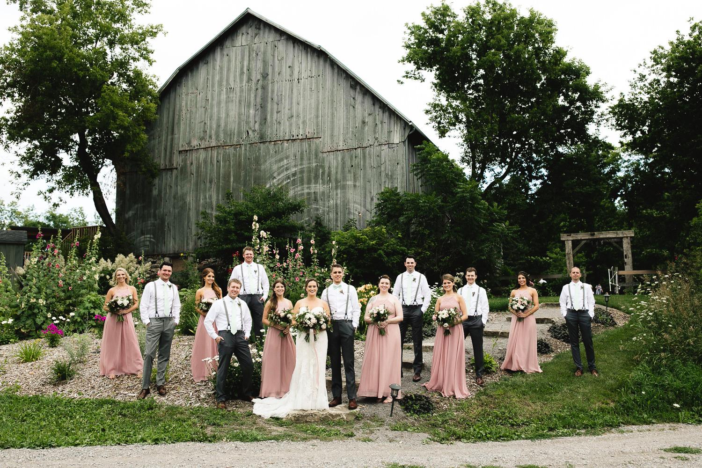 wedding party photos century barns